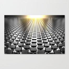 Cubic floor Canvas Print