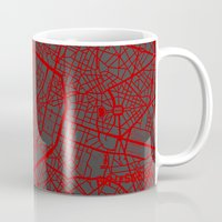 brussels Mugs featuring Brussels by Map Map Maps
