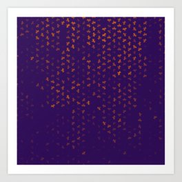 capricorn zodiac sign pattern po Art Print