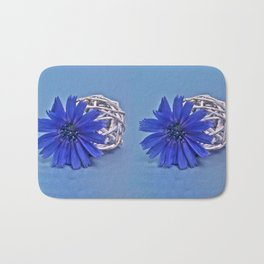 Still life with chicory flower Bath Mat