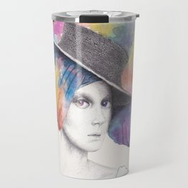 Girl with Headdress Travel Mug