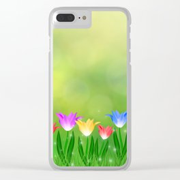 Floral happy spring Clear iPhone Case