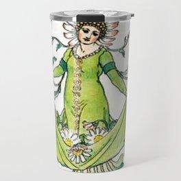 Vintage Daisy Lady Goddess Travel Mug