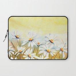 Daisies Watercolor Laptop Sleeve