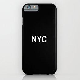 New York City - NY, USA (Black Monogram) iPhone Case