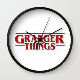 Granger Things ! Wall Clock