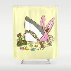 The Easter Shark Shower Curtain
