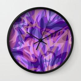 Lilac abstract Wall Clock