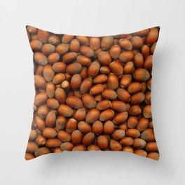 Hazel Nut Scanograph Throw Pillow