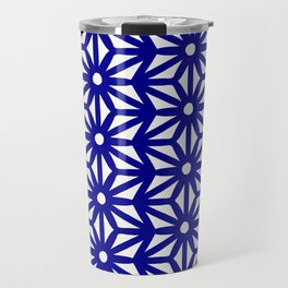 Asanoha Pattern - Navy Travel Mug