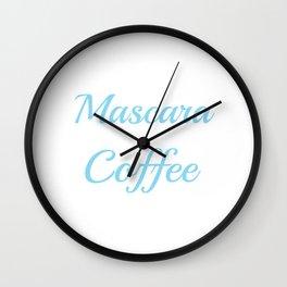 Addicted to Macara and coffee Wall Clock