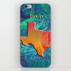 Texas Map iPhone & iPod Skin