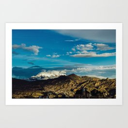 Mountain of La Paz Art Print