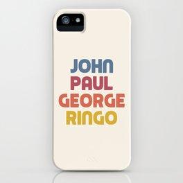 John Paul George Ringo iPhone Case