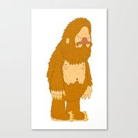 bigfoot Canvas Prints featuring bigfoot by gal shkedi