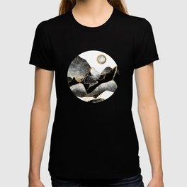 Minimal Black and Gold Mountains T-shirt