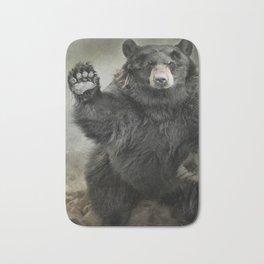 Black Bear Greeting Bath Mat