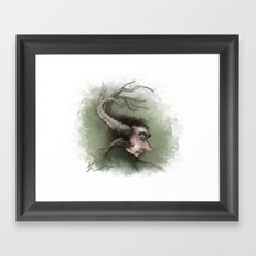Fairy with Antlers Framed Art Print