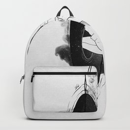 Running from it all. Backpack