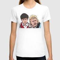 caleb troy T-shirts featuring Troy and Rowsdower by turddemon