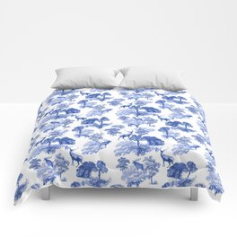 Classic French Toile Countryside Deer Pattern Comforters
