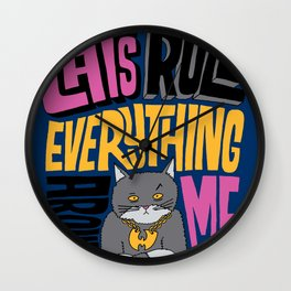 C.R.E.A.M. Cats Rule Everything Around Me Wall Clock