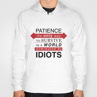 typo Hoodies featuring Patience Typo by gac714