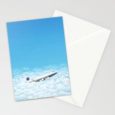 Plane through clouds Stationery Cards