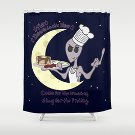 The Intergalactic Diner Shower Curtain