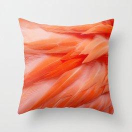 Flamingo Feathers Throw Pillow