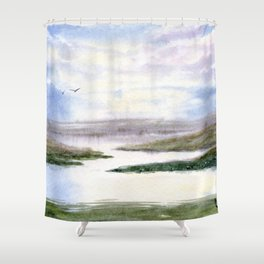 Mostly Water Shower Curtain