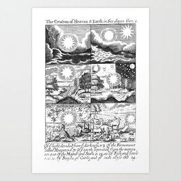 Creation:  Copperplate  engravings by 17th century engraver, Frederick Hendrik van Hove. Art Print