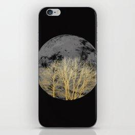 Golden moon iPhone Skin