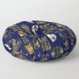 beautiful pagan themed tarot print Floor Pillow