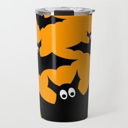 Cool cute Black Flying bats Halloween Travel Mug