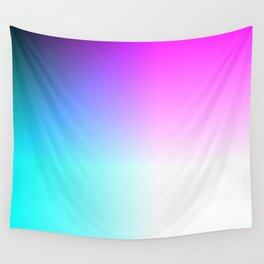 Blue Purple Pink and White Ombre Ocean Wall Tapestry