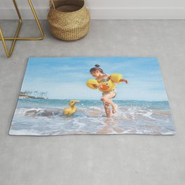 Ducks on the Beach Rug