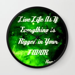 Everything Is Rigged - Rumi Wall Clock