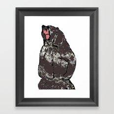 He's a bear in a bad mood Framed Art Print