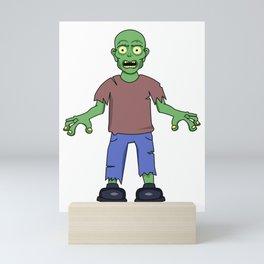 Scared Zombie Mini Art Print