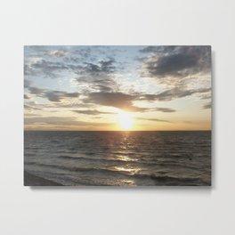 Spurn Point Sunset Metal Print