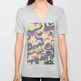 Colorful marble art Unisex V-Neck