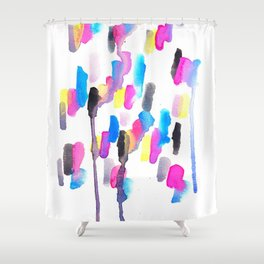 Chaotic Notes Shower Curtain
