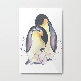 Penguins Family Metal Print