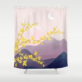Midnight Bloom 03 Shower Curtain