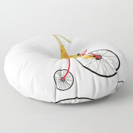 the high wheeler Floor Pillow