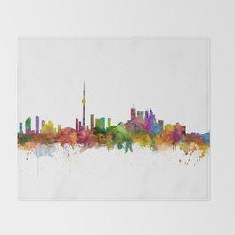 Toronto Canada Skyline Throw Blanket