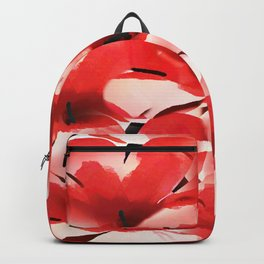 Red Poppies - Painterly Backpack