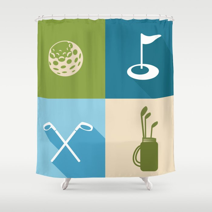 Golf Shower Curtain By Studiofibonacci