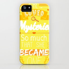 Mystery of Margo - Yellow iPhone Case